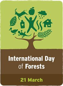 国際森林デー公式ロゴマーク IntDayForests_Logo_EN